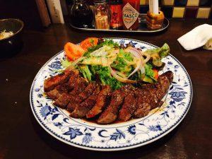 ランプ肉のステーキ