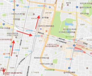 通天閣への地図