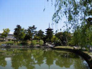 五重の塔と猿沢池