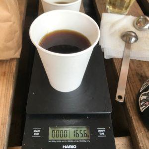 コーヒー完成