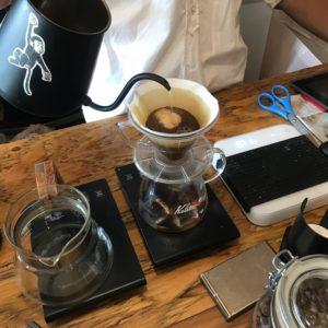 ドリップでアイスコーヒー