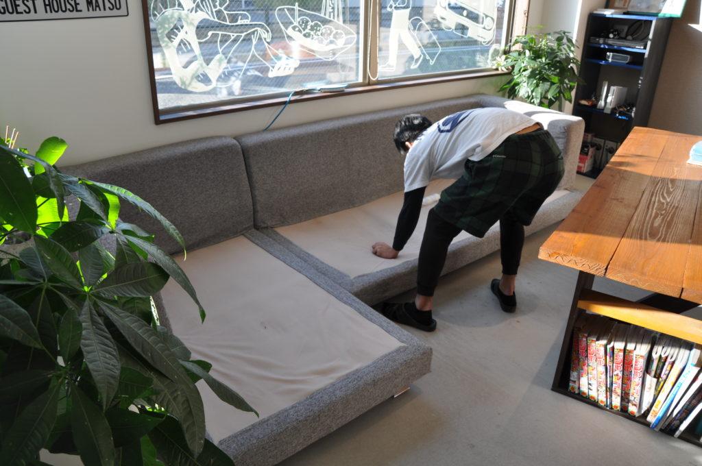ソファーの掃除